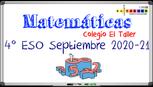 EXAMEN SEPTIEMBRE 2020-21 - MATEMÁTICAS 4º ESO