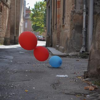 Ballons dans le vent