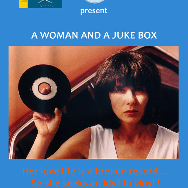 A woman and a juke box