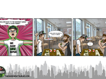 Comic Strip #1 - Welcome Back To The Basement Surge!