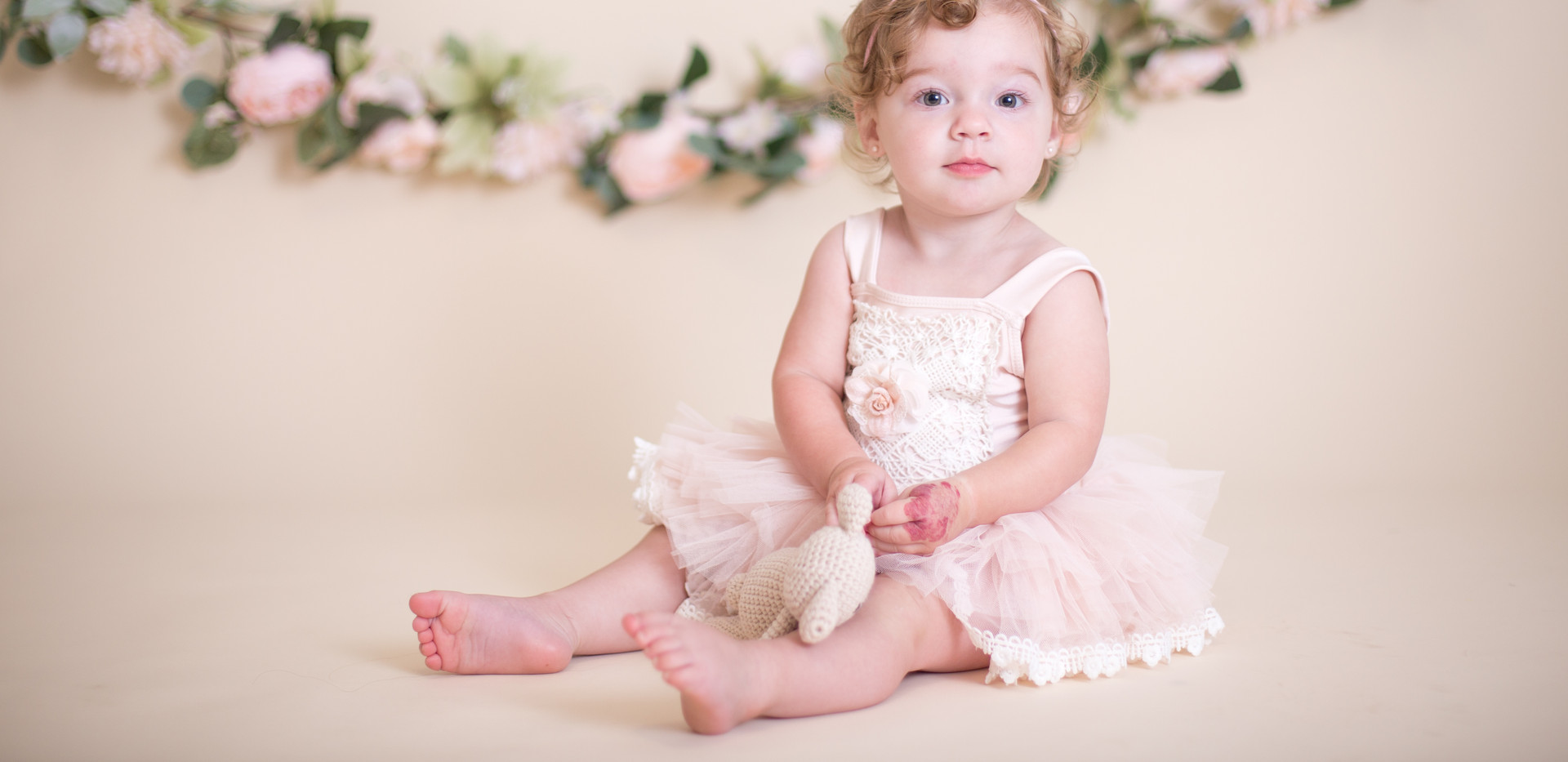 girl in pink tutu, chattanooga cake smash photographer
