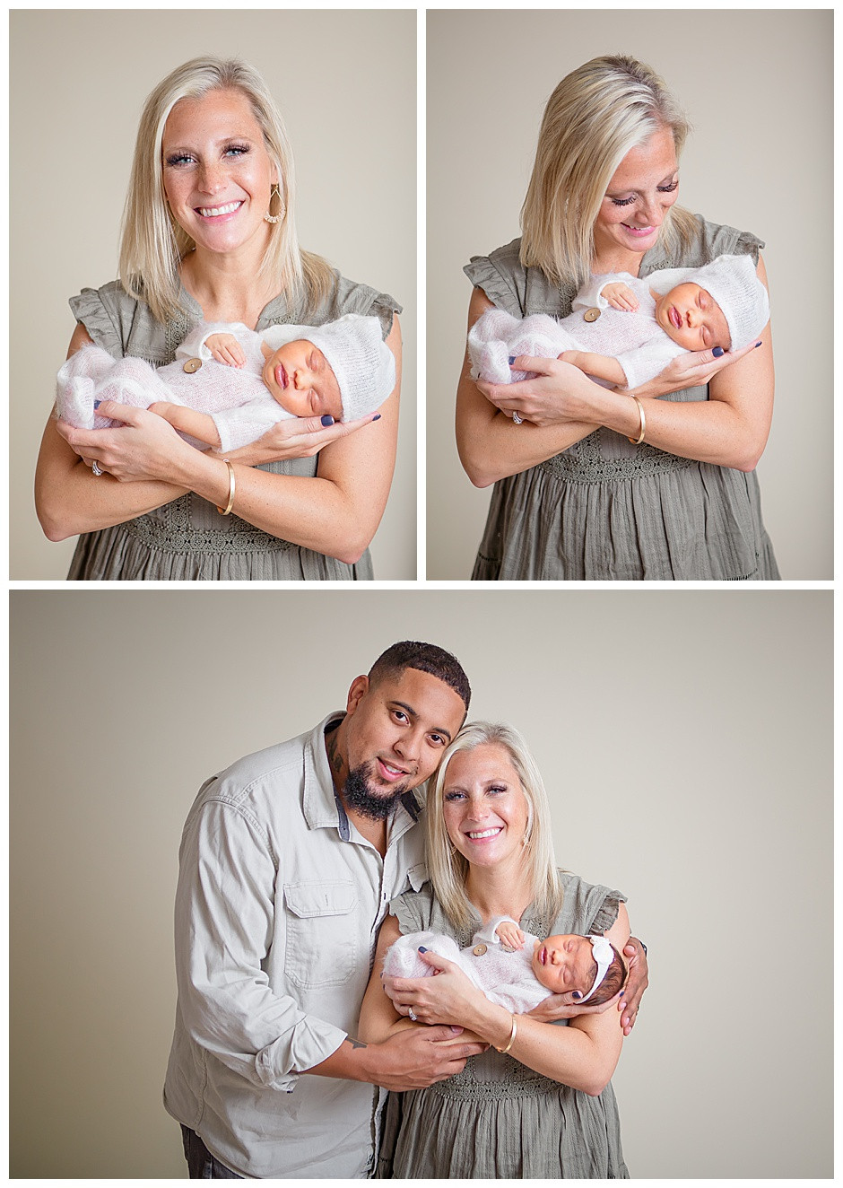 mother with newborn baby, photo studio Chattanooga Tennessee