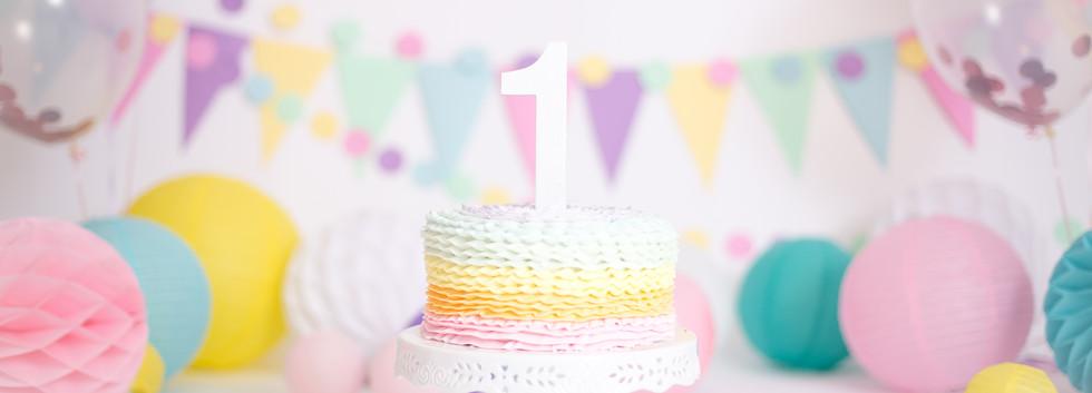 rainbow birthday cake Chattanooga, cake smash TN