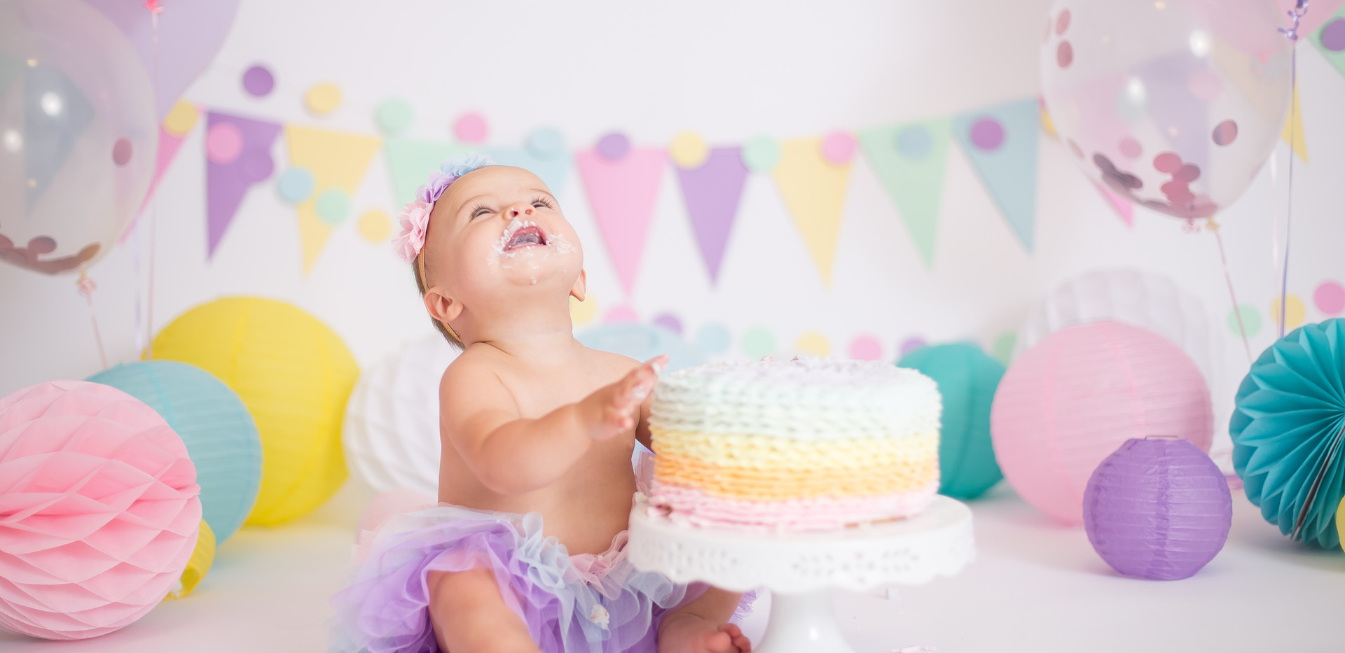 rainbow baby cake smash session chattanooga tn
