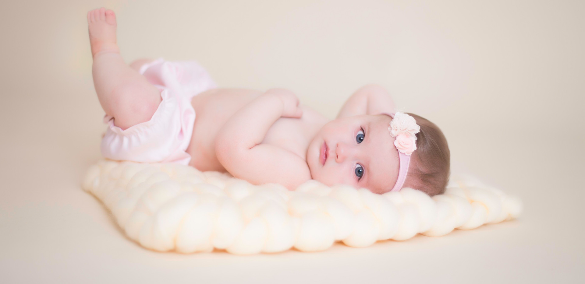 baby girl studio photos, Chattanooga baby photographer