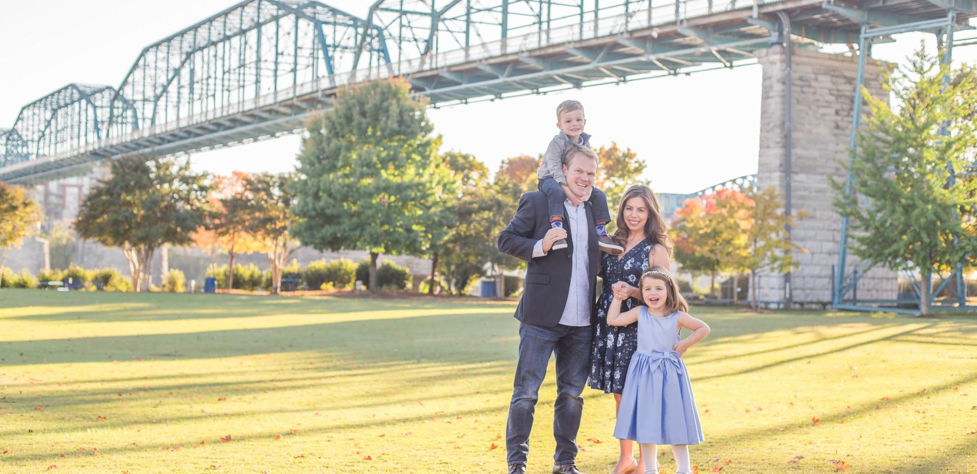 Walnut Street Bridge family photos, Chattanooga family photographer