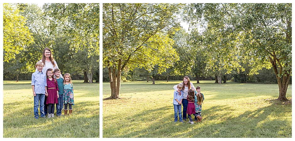 grandmother with grandkids, Chattanooga family photographer, outdoor photos