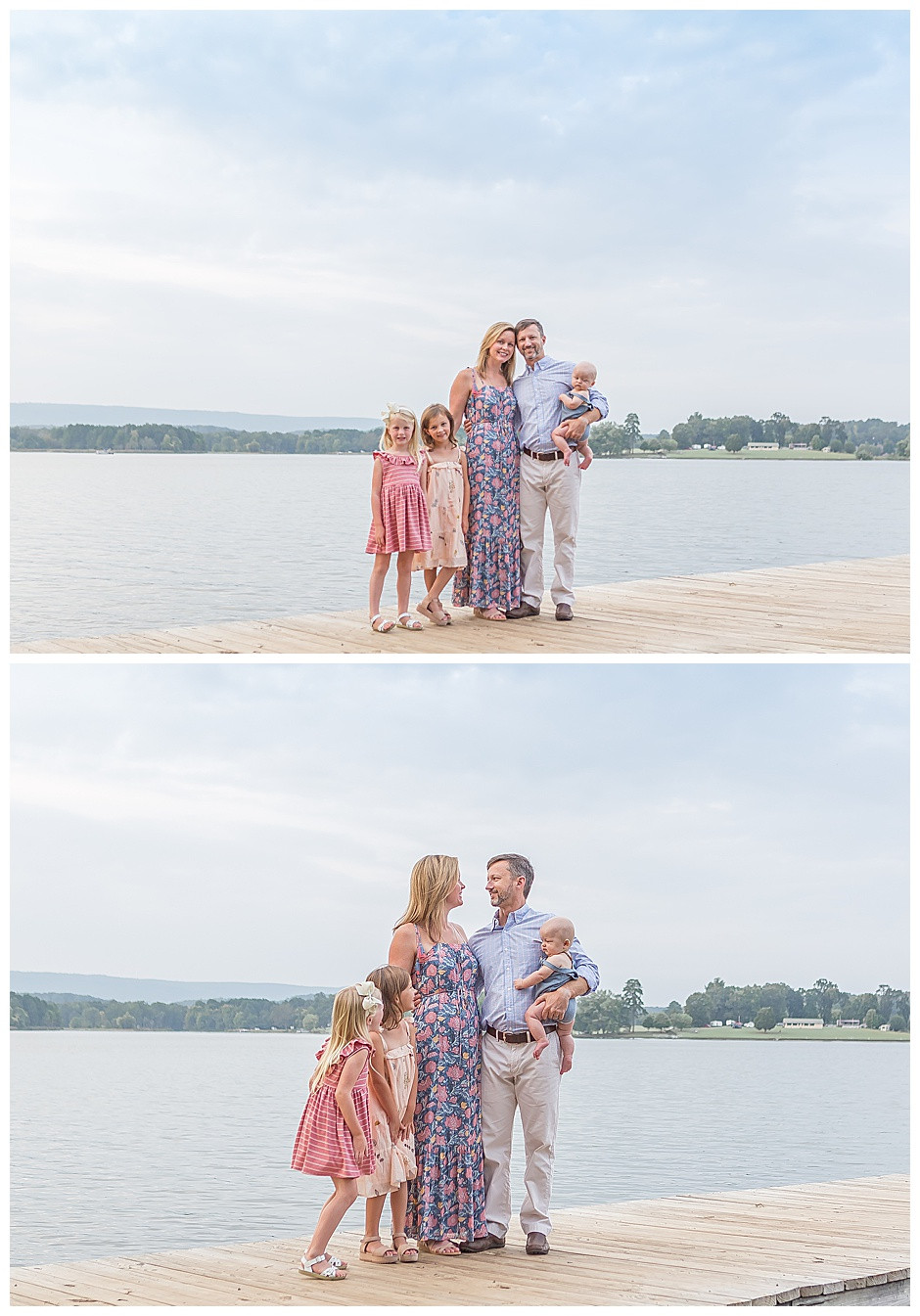 family photos at Harrison Bay State Park TN