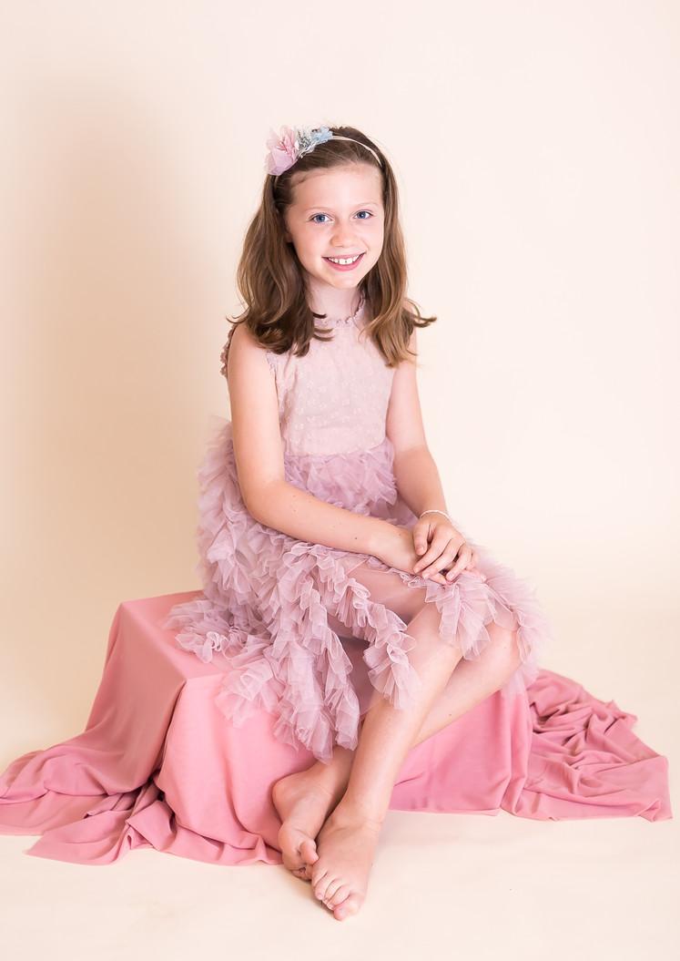 pink ruffled dress, photographer Chattanooga TN