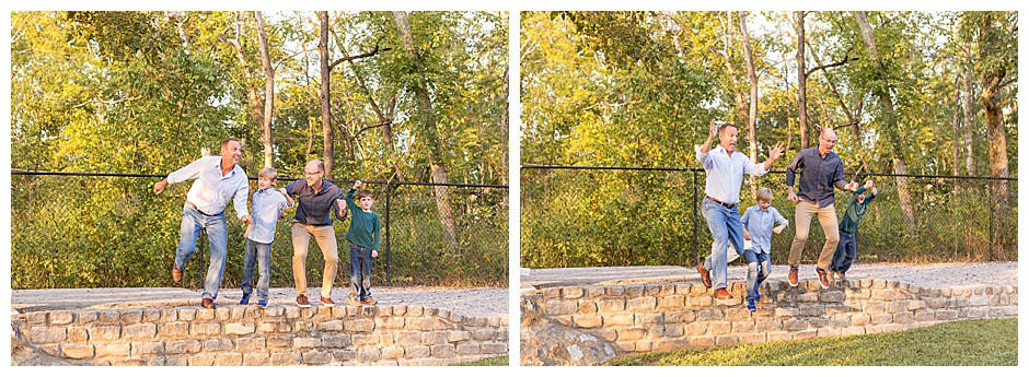 lifestyle photographer Chattanooga, family jumping,