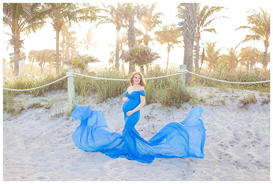 maternity photographer chattanooga, newborn photographer chattanooga, blue dress, beach, sunset