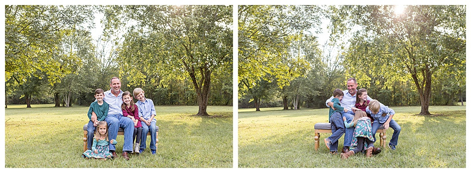 grandfather with four kids, family photographer Chattanooga, best photographer Chattanooga