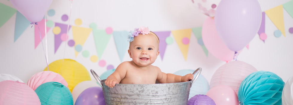 rainbow baby cake smash session in Chattanooga TN