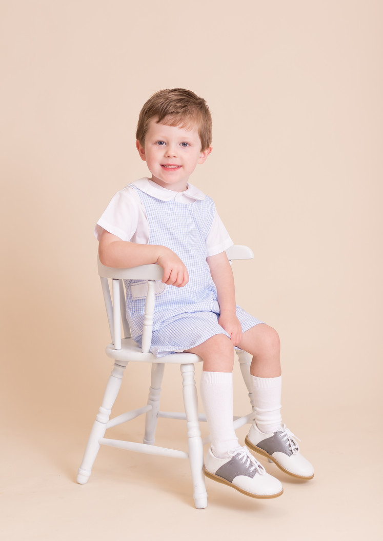 boy with saddle shoes, photo studio Chattanooga
