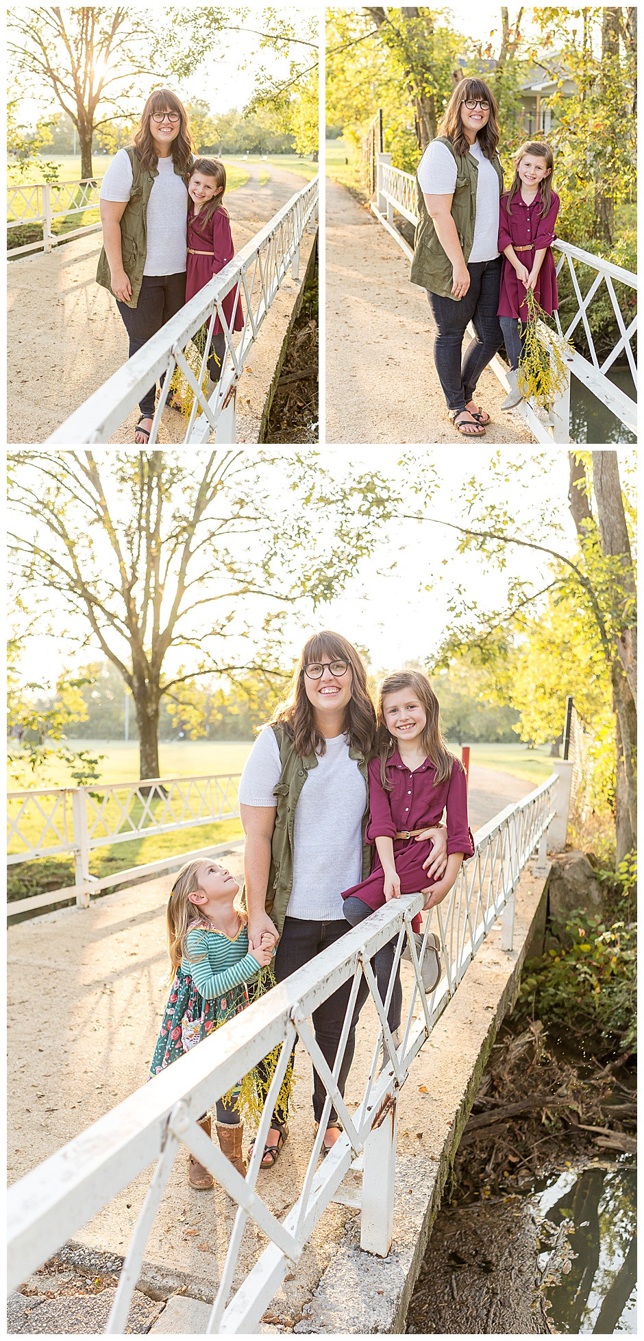 photographer Chattanooga TN, family photos in Chattanooga, woman with two girls