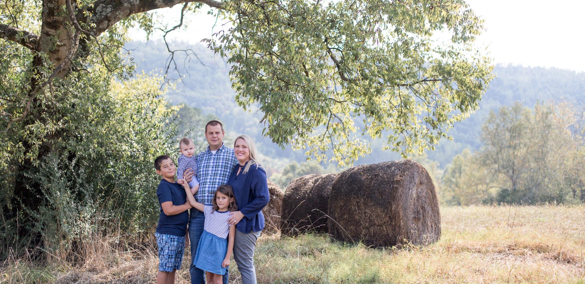 Chattanooga family photo, Chattanooga farm photo, hay bales Chattanooga