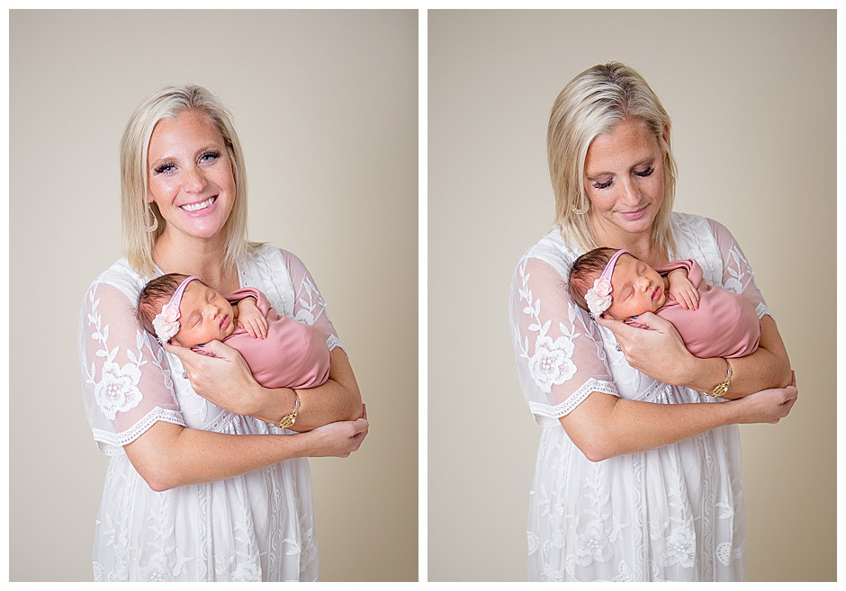mother and child, white dress, newborn photographer Chattanooga