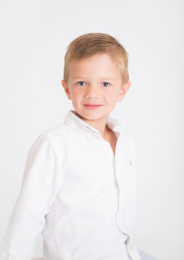 blonde boy, photo studio Chattanooga