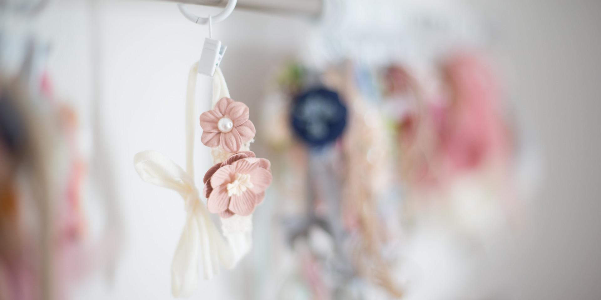 blush baby headband, chattanooga newborn photographer
