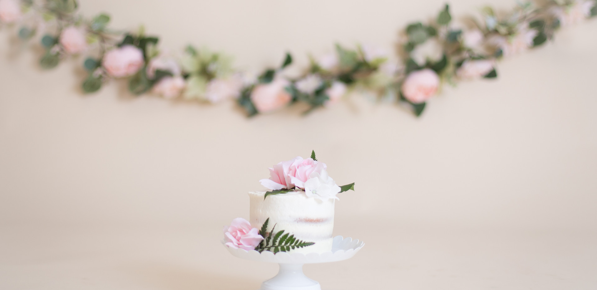 naked cake with flowers, chattanooga cake smash
