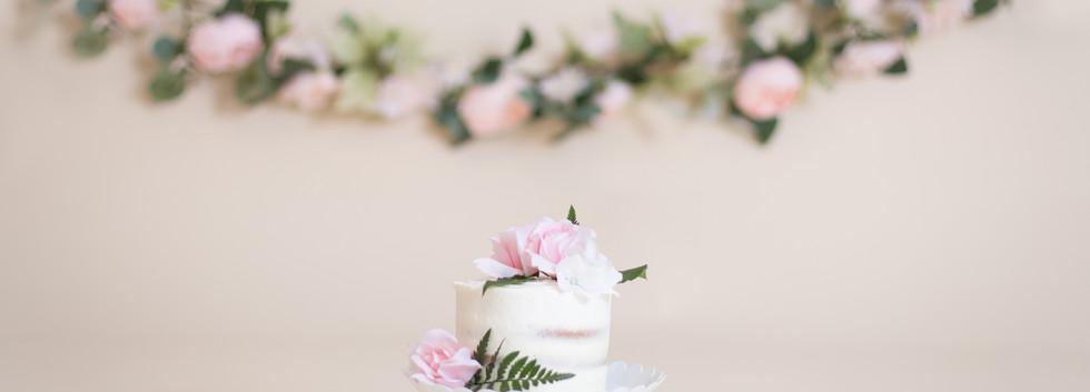 naked cake with flowers, chattanooga cake smash