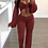 Thumbnail: Autumn New Arrival Sexy v Neck Suit Lady Crop Top and Long Pants 2 Piece Set