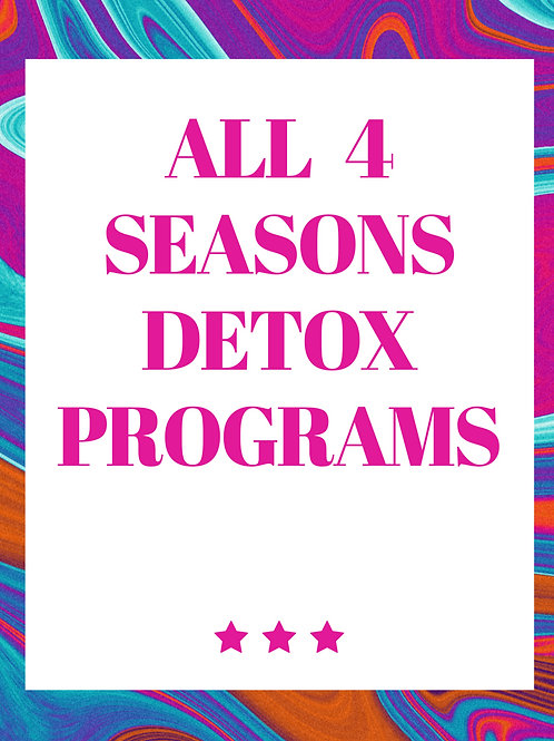 All 4 Seasons Detox Programs - Self Study