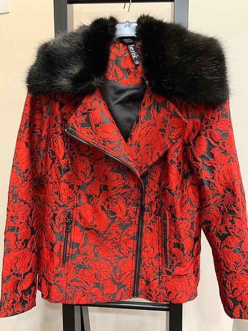 Berek Moto Brocade Jacket With Fur Collar L 444447