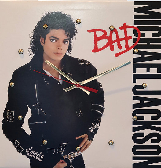 Vinyl Album Cover Clock: Michael Jackson Bad