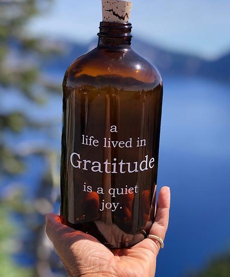 Gratitude Amber Apothecary Jar