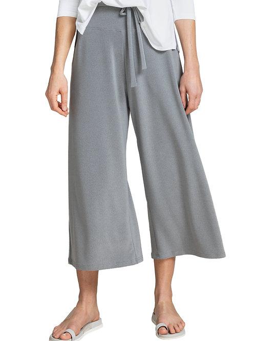 Sympli Wide Leg Crop in Silver 27204