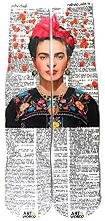 Artful Frida Kahlo Word Socks