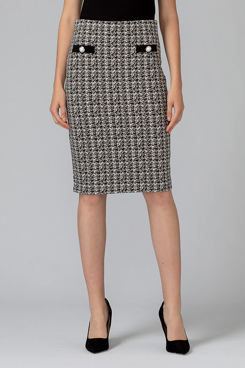 Joseph Ribkoff Houndstooth Pencil Skirt 194832