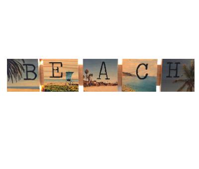 Beach Sign: Photography on Wood