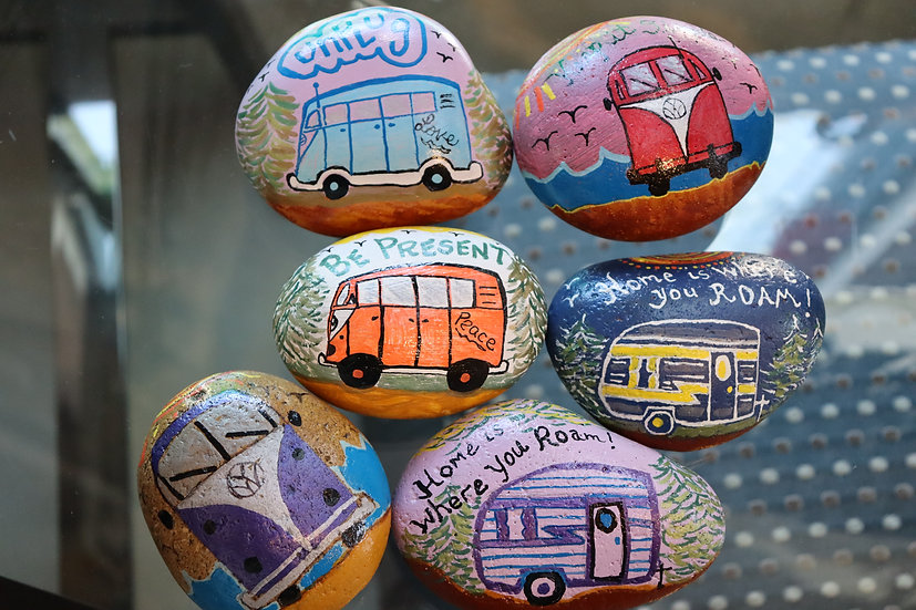 Handpainted Positivity Rock Weights