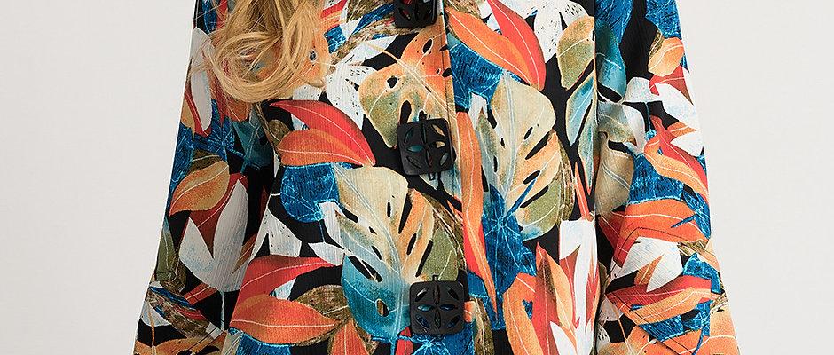 Joseph Ribkoff Leaf Watercolor Jacket 202354