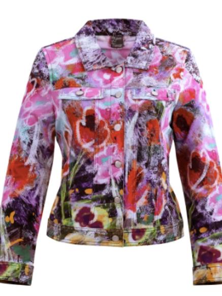 Dolcezza Art Floral Wonder Denim Jacket 20610