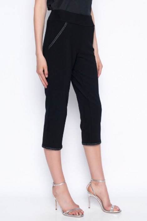 PICADILLY - Black Capri With White Trim