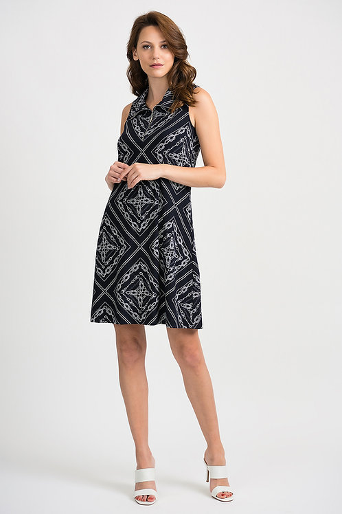 Joseph Ribkoff Chain Print Sleeveless Dress 201114