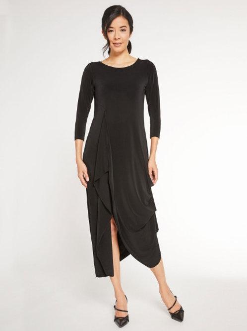 Sympli Drama Dress in Black