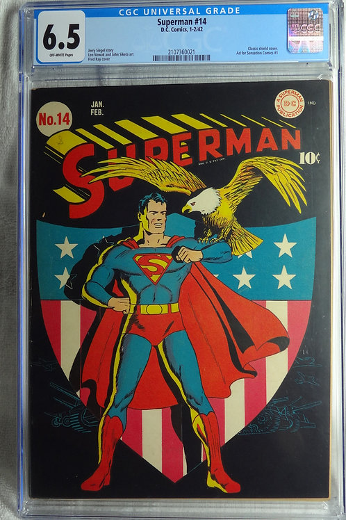 Superman 14 CGC 6.5