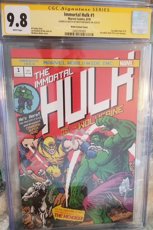 Immortal Hulk #1 8-Bit Edition CGC 9.8 Waite SS