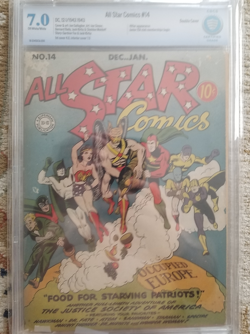 All-Star Comics 14 CBCS 7.0 Double Cover