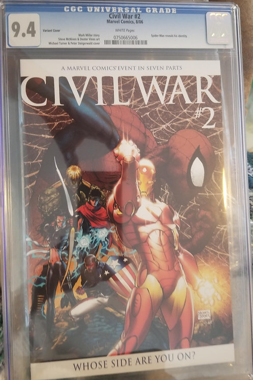 Civil War #2 Turner Variant CGC 9.6