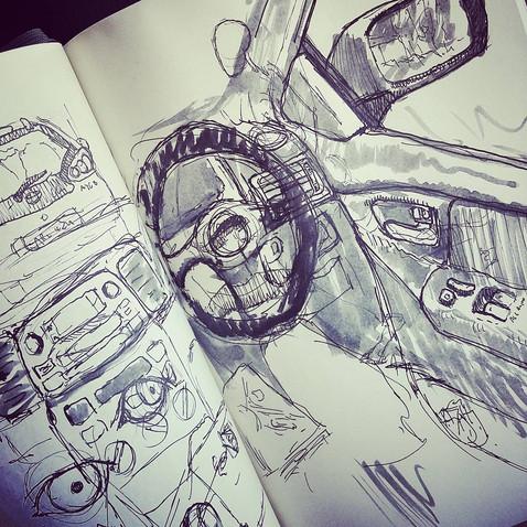 Sketching while waiting