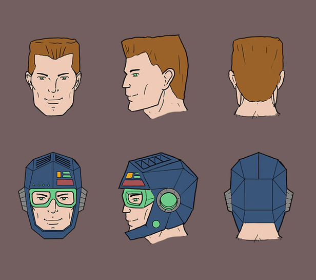 Hajperman head design