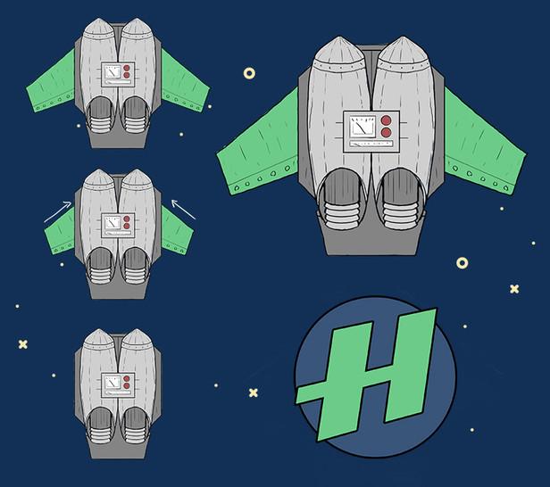 Hajperman jetpack design