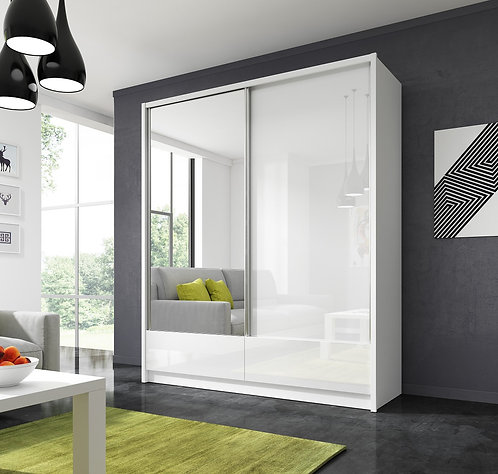 ARIA I Sliding 2 Door Wardrobe 180cm - 200 cm width