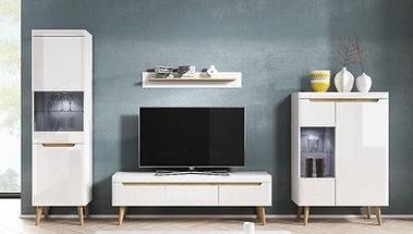 Nordi White Living Room Set No: 1