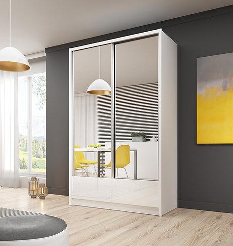 ARIA II Sliding 2 Door Wardrobe 130cm - 150cm width